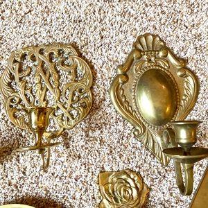 Vintage Accents - Vintage antique brass boho candlesticks